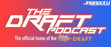 Logo card the The Draft Podcast, pop-dra