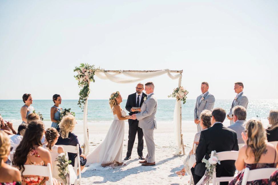 Florida Beach Weddings, Pastor Heath Weddings, Elopement, Ceremony, Tampa Bay, Same-Sex Wedding
