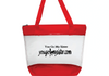 Red Clear tote bag  with zipper strong quality bag  14x12  $12