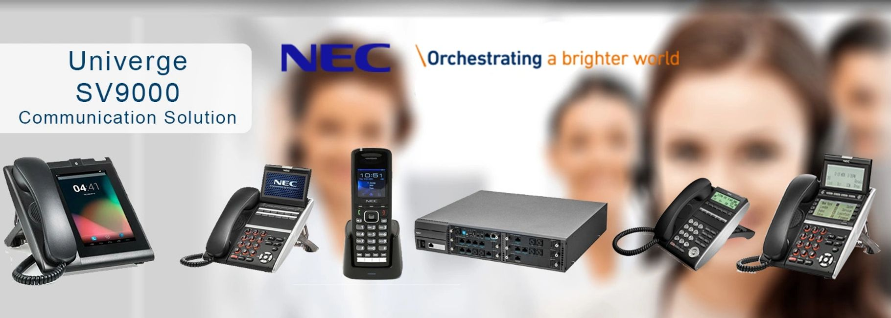 NEC UNIVERGE SV9000 SV9100 SV9300 SV9500 SL2100 business telephone systems VoIP IP PBX SIP SD-WAN