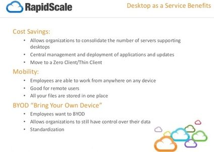 Desktop as a Service Benefits from Rapidscale and KCCi