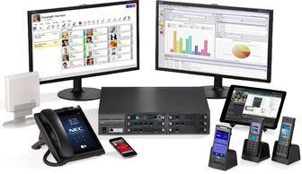 NEC UNIVERGE SV9100, IP PBx, VoIP, twice system capacity, yet cost effective from 10 to 800 users.