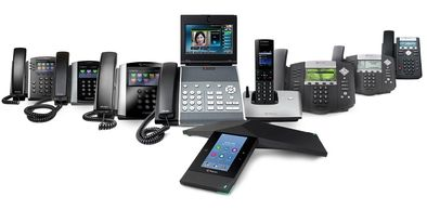 Polycom phones, desktop, VoIP, hosted, IP, PBX systems, premise-based telecom, cloud-based, SD-WAN