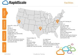 RapidScale's Global Cloud locations: Irvine, CA, Dallas, TX, Sterling, VA, Amsterdam and Hong Kong.