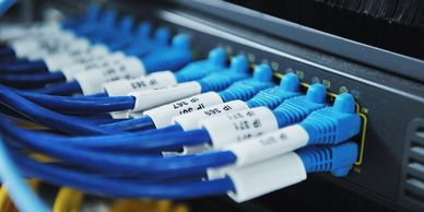 Cat 5 Twisted Pair, Video, Coax, fiber-optic Cabling Services, CA Contractor License #: 584850