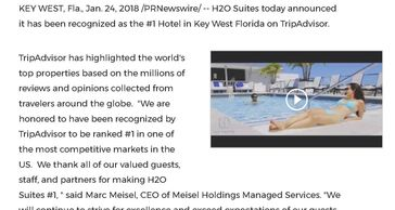 Meisel Holdings Managed Services - H2o Suites #1 TripAdvisor