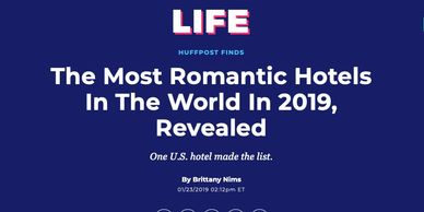 Meisel Holdings Managed Services Hotel H2O SUites Named #1 Most Romantic Hotel in the USA