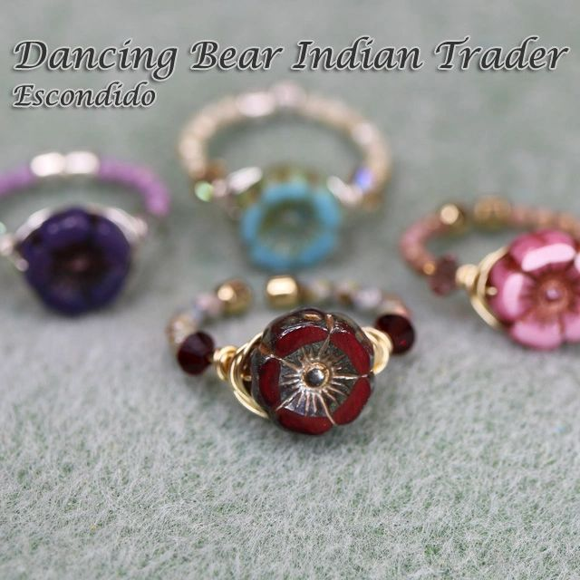 "{""blocks"":[{""key"":""3sij4"",""text"":""Woodland Magical Flower Ring $8 for one kit, 2 for $12, to make or take, more color options. Dancing Bear Indian Trader in Escondido, San Diego.   "",""type"":""unstyled"",""depth"":0,""inlineStyleRanges"":[],""entityRanges"":[],""data"":{}}],""entityMap"":{}}"