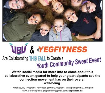 Watch for a YEGFitness/UBU youth event in Sept/Oct. for (all genders) 11-17. More info to come.