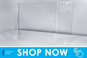 sneeze guard pro c for wrap around perspex screen protection on sale now in our sneeze guards shop
