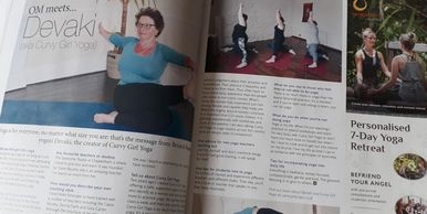 Curvy Girl Yoga article in Om Yoga Magazine