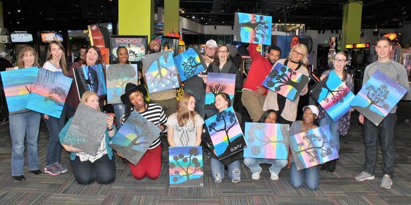 Eat Drink Paint is Amazing FUN: Food, Drinks, Social Painting and FUN at Your Favorite Local Venues