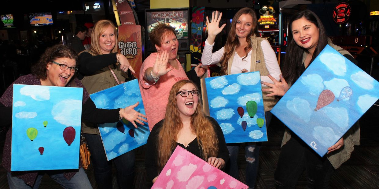 Share Amazing FUN with Eat Drink Paint: Food, Drinks and Social Painting at your Favorite Venues