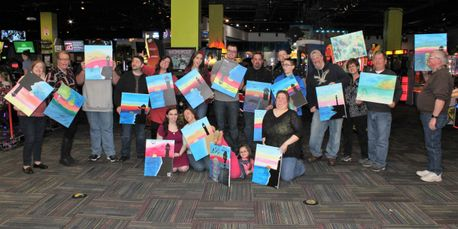 Celebrate Birthday FUN with Eat Drink Paint: Food, Drinks, Painting and YOU in Cincinnati, Ohio