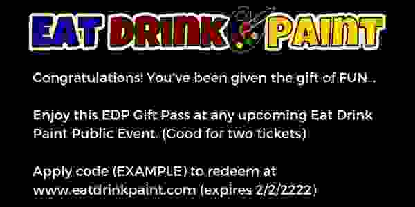 Share Amazing FUN at Eat Drink Paint: Food, Drinks and Social Painting at your Favorite Venues