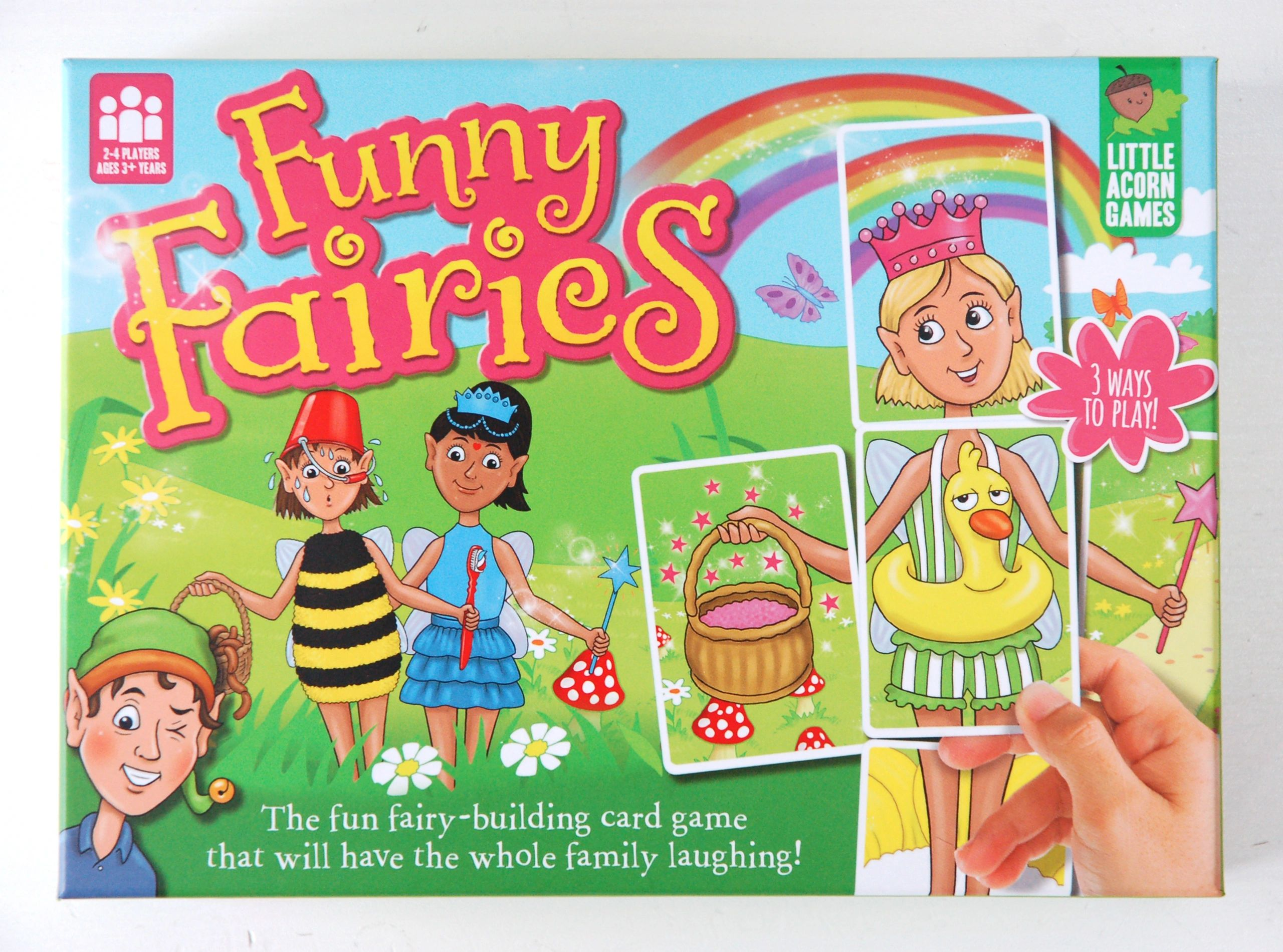 Funny Fairies children's board game box lid