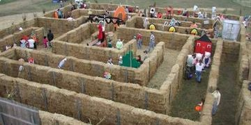 Company Picnic, Hay Maze, Straw Bale Maze, Event Planning, Party Rentals, Charlotte, NC
