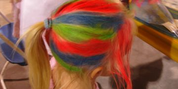 Temporary Hair Color, Event Planning, Party Rentals, Charlotte, NC