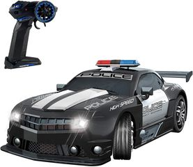 1:12 Scale Police Sports RC Car Realistic Sound with Headlights - Battery Operated & Pre-Assembled.