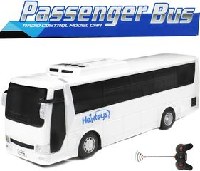 HAK125 RC Passenger Bus Model Car toy for bus kids and adults. stylish a sturdy structure.