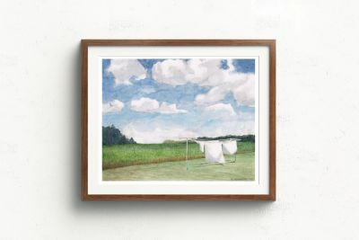 beautiful watercolor laundry room art print. Perfect home decor for a farmhouse laundry or bathroom
