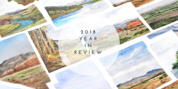 Rachel Alvarez Art - 2018 year in review - highlights and learning from an art business