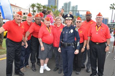 Veterans Day Parade, San Diego Waterfront with the Police Chief .