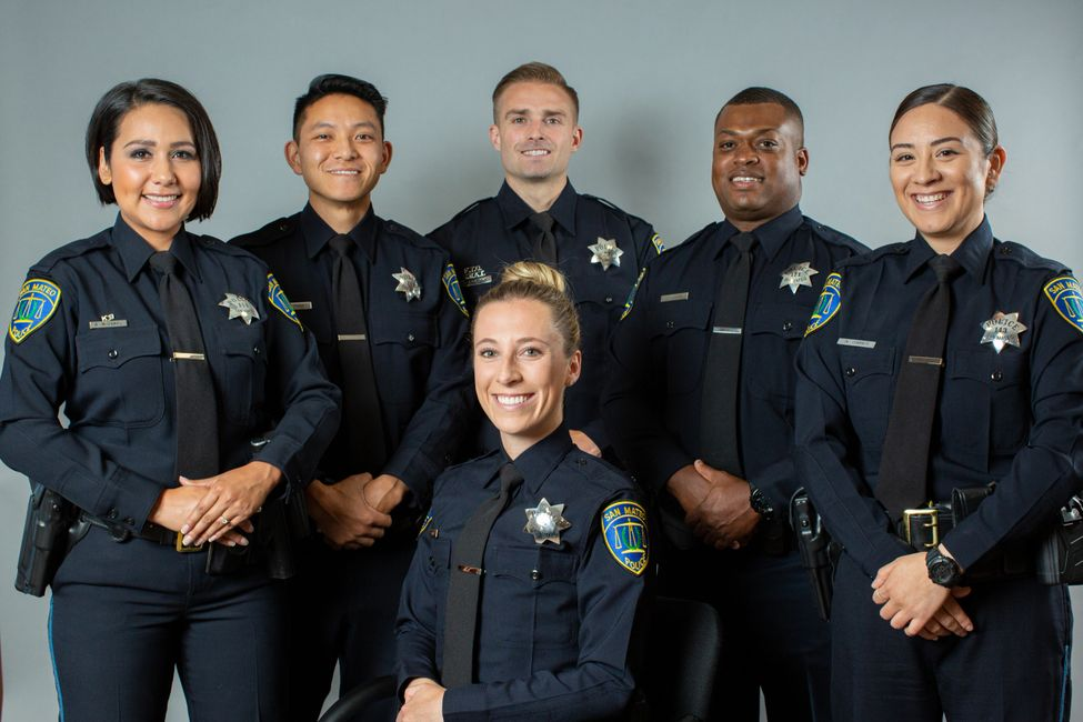 Group of smiling police officers.