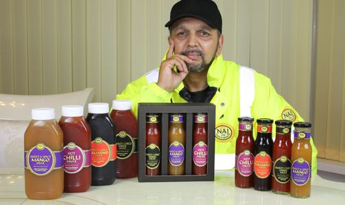 Tony Khan. As featured in Channel 4's documentary sumggled, sat with his sauce range on the table.