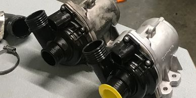 Bmw water pump replacement Seattle.