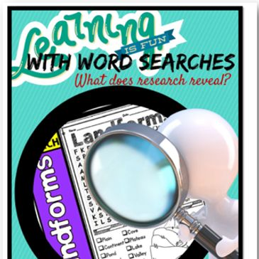 word searches and memory: What does research show?  Free printable word searches included.