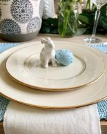 #placesetting #tablesetting #tabledesign #easter #spring #onthetable #tablescape #interiordesign