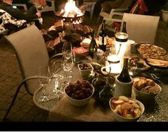 #firepit #outdoorparty #charcuterieplatter #entertainingideas #dishinwithdebs