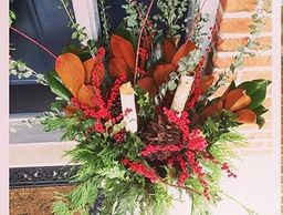 #urnfiller #christmasurn #outdoordecor #freshgreenery #dishinwithdebs