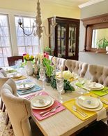#tablesetting #tablescape #tabledecor #easter #springdecor #placesetting #flowers