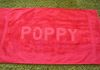 Red spot on RED towel for POPPY