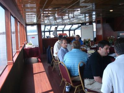 Lunch and Dinner Meetings on the Spirit of Lake Murray Columbia only luxury yacht sailing all year