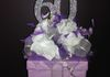 "9""  Gift Box with Flowers and Glitter 60 Centerpiece"