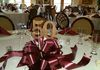 Small Double Bow Centerpiece with Glitter 50