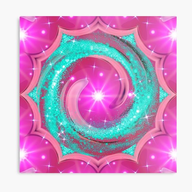 Cosmic Light And Love Metal Art Print For Your Wall.