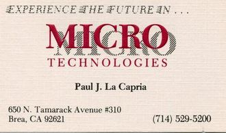 MICRO Technologies Business Card