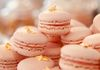 Strawberry Macaroons with strawberry cream