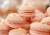 Strawberry Macaroons with strawberry cream filling