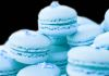 Blueberry Macaroons with white chocolate & blueberry ganache filling