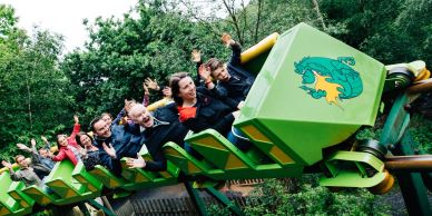 Dragon rolller coaster at Green Wood Family Park