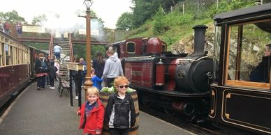 Steam Trains of Snowdonia, our guests having fun!