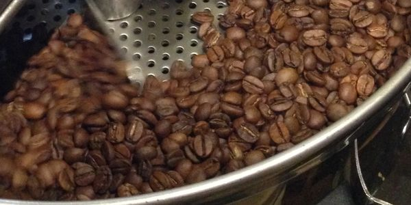 Hand roasted coffee beans. Small Batch Roasting