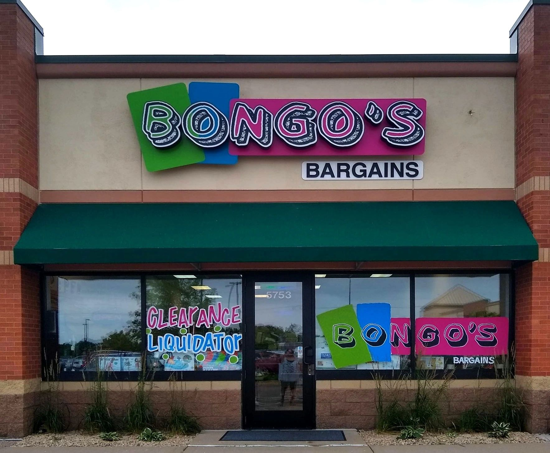 Bongo's Bargains storefront in Savage MN