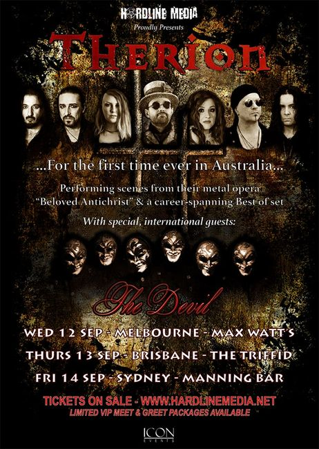 Therion Australian tour 2019 with special guests The Devil
