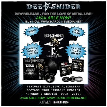 Dee Snider For The Love of Metal Live DVD CD Blu-ray VINYL New Release Pre-order Hardline Media